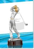 Golferin beim Schlag