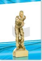 Pétanque-Spieler in Gold