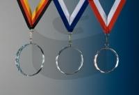 Glas Medaillen Rund
