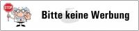 """Kleber """"Bitte keine Werbung"""""""